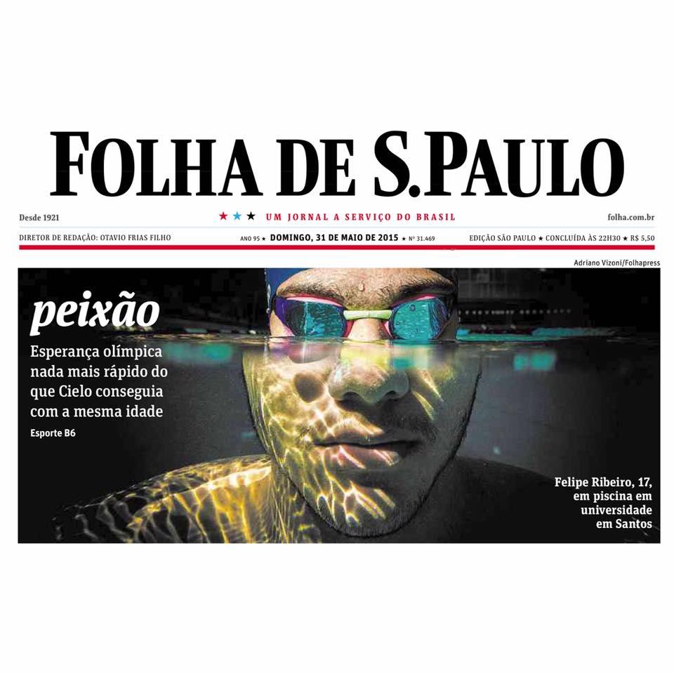 a51ced55bf Felipe Ribeiro ganha elogios e manchete na primeira página do jornal ...