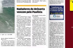 Nadadores da Unisanta vencem pelo Paulista, Jornal ATribuna
