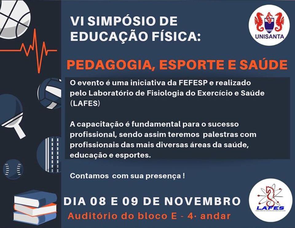 VI Simpósio de Educação Física começa na quinta-feira 20f9ea1341812