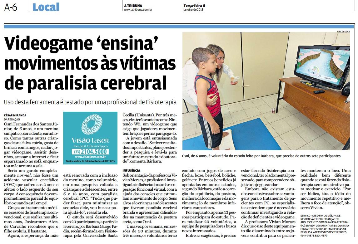 13jan8 - A Tribuna Local Fisio Game PC