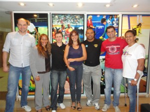 Carlos Farrenberg e os outros membros do Conselho de Atletas
