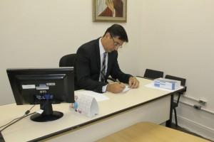 Dr. Guilherme Soares Macedo, Juiz da 2ª Vara Judicial de Santos e responsável pelo Juizado Especial.