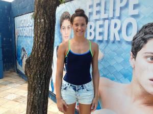 Andrea Berrino, nadadora do Santa (Foto: Bruno Secco)