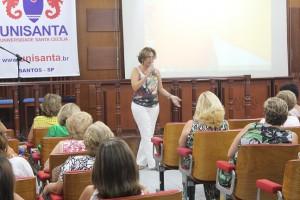 Rosana Valle ministrou palestra em homenagem ao Dia Internacional da Mulher (Foto: Bruno Secco)