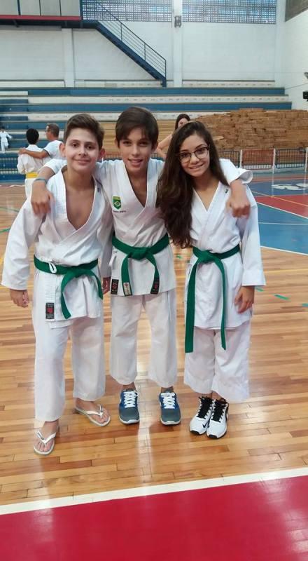 Matheus Bortolomasi, Lorenzo Prieto e Letícia Carlquist