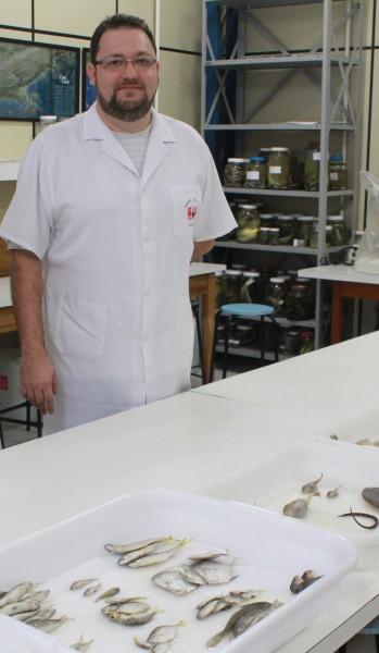 coordenador do Acervo Zoológico, Matheus Rotundo.